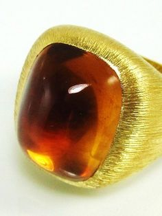 Henry Dunay Cabochon Citrine and Gold ring by Henry Dunay from Richters Jewelry