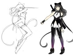 Rooster Teeth Productions: RWBY Concept Art by Ein Lee -- I wish the series was I this style, because I literally have no problem with the series, except for the animation.. :U