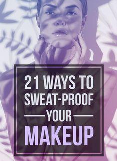 21 Easy Makeup Tips For When It's Hot As Balls Outside - Make up hacks Beauty Make-up, Beauty Secrets, Beauty Hacks, Beauty Tips, Beauty Care, Natural Beauty, Beauty Ideas, Natural Makeup, Beauty Logo