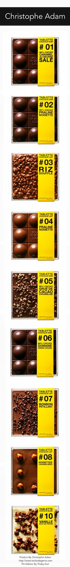 AMAZING CHOCOLATE TABLETTE  By Christophe Adam. #numbers #chocolate #packaging PD