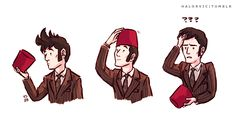 Now we know why the 10th Doctor's hair was so flat in the trailer