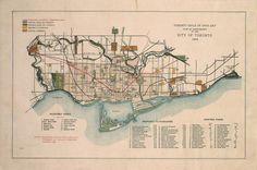 A Toronto photo extravaganza Toronto Ontario Canada, Toronto Photos, Historical Maps, Vintage Maps, How To Plan, History, City, Playgrounds, Roads