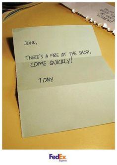 Print Ad by FedEx Express #advertising #FedEx