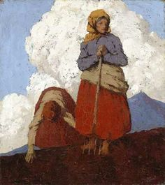 The Potato Diggers, Paul Henry, Madder Dye for Petticoats, Colours 2