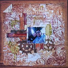 Crackling Rose Layout by Thandar - Scrapbook.com