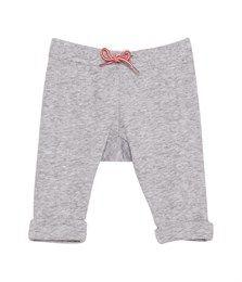 Pantalon bébé mixte en tubique chinée gris Fumee - Petit Bateau