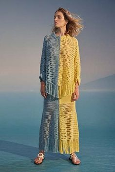 See by Chloé Spring 2020 Ready-to-Wear Collection - Vogue Knitwear Fashion, Knit Fashion, Fashion Week, Fashion 2020, Fashion Show, Fashion Trends, Woman Fashion, Fashion Fashion, See By Chloé
