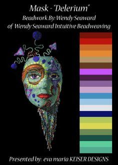 Colorway:  Wendy Seaward  WEBSITE:  http://www.wendyseaward.com/  Facebook Page:  https://www.facebook.com/pages/Wendy-Seaward-Beadweaving/210850592307675