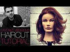 Modern Take on The Classic 180 Degree Layered Haircut - Layered Haircut Tutorial | MATT BECK VLOG 39 - YouTube
