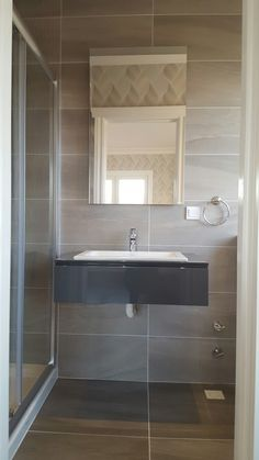 modern gray small bathroom