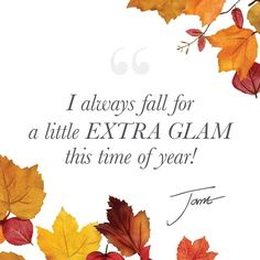 Fall for a little extra glam makeup this time of year!