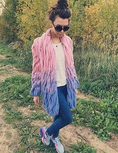 Lalo Cardigans | light blue + pink