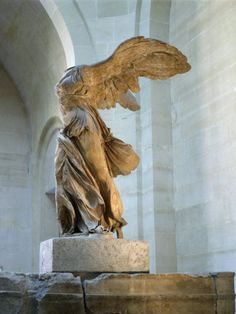 Winged Victory in the Louvre. So inspiring. I looks like she's ready to take off into the wind. Love!