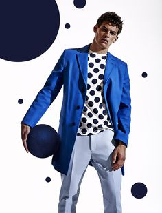Polka Dots & Fashion! Sam Harwood + Maximilian Wefers for Attitude image Polka Dots Mens Editorial Photos 008
