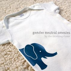 Gender Neutral Onesies & Free Cut Files | The Thinking Closet