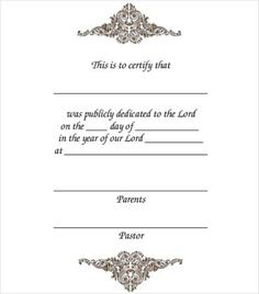 Baptism baby welcoming and blessing certificates free for Baptism certificate template pdf