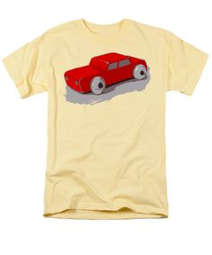 Wooden Toy T-Shirt featuring the photograph Wooden Toy Car In Red by Sverre Andreas Fekjan Outdoor Patio Mats, Drop Down Ceiling, Driftwood Flooring, Cost Of Granite Countertops, Building A Raised Garden, Vintage Theme, Great T Shirts, Sheer Curtains, Phone Covers