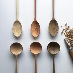 The Key to Succeeding in Woodworking Projects Wooden Spoon Carving, Carved Spoons, Wood Spoon, Wood Carving, Spoon Art, Wooden Chopping Boards, Woodworking Inspiration, Raw Wood, Wooden Kitchen
