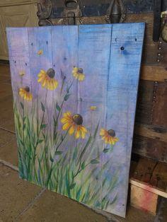 Great acrylic art on my RedeemWood wood art canvases! Great acrylic art on my RedeemWood wood art canvases! Wood Painting Art, Pallet Painting, Acrylic Painting Canvas, Canvas Art, Acrylic Art, Painting Flowers, Fence Painting, Knife Painting, Wood Art Design