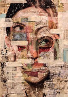Rael Brian cria retratos intensos através da colagem. Seu trabalho tem uma estética suja, do tipo que não se aprende em uma escola.