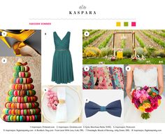 Fargerik Sommer // Colorful Summer Marchesa, Wedding Inspiration, Colorful, Table Decorations, Summer Dresses, Home Decor, Fashion, Moda, Decoration Home