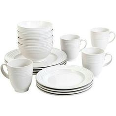 Great Gatherings® Square Black 16-Piece Dinnerware Set at Big Lots. Starter home so in need of matching/more then four plates P #BigLots | Pinterest ...  sc 1 st  Pinterest & Great Gatherings® Square Black 16-Piece Dinnerware Set at Big Lots ...