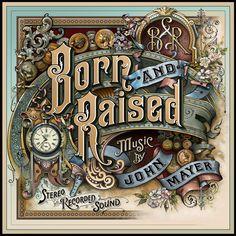 "Cover Art Design Process for John Mayer's Album ""Born and Raised"""