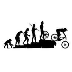 22.8*9.5CM Interesting Mountain Bike Downhill Car Stickers Covering The Body Cartoon Vinyl Decals Black/Sliver #mountainbikeshirt