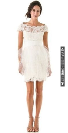 Marchesa Lace Dress with Tulle | CHECK OUT MORE IDEAS AT WEDDINGPINS.NET | #weddingfashion
