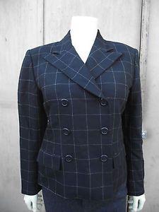 Ralph Lauren jacket Plaid Black 4 Blazer Wool Small Coat Excellent Con. Winter