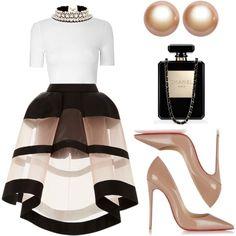 Elle by kimeechanga on Polyvore featuring Glamorous, Delpozo, Christian Louboutin, Amour de Pearl, Shourouk and Chanel
