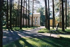 Sigurd Lewerentz - Chapel of Resurrection, Stockholm Helsingborg, Stockholm, Woodland, Sidewalk, Architecture, Building, Photography, Inspiration, Image