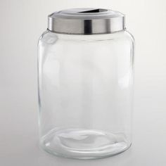 Cost Plus World Market Large Glass Kitchen Jar $15 ❤ Liked On Endearing Glass Kitchen Containers Design Inspiration