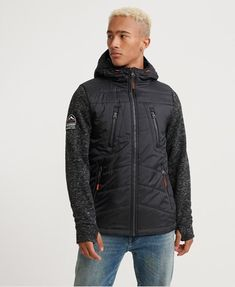 Shop Superdry Mens Storm Hybrid Zip Hoodie in Gritty Black. Buy now with free delivery from the Official Superdry Store. Superdry Jackets, Superdry Mens, Pepe Jeans, Slim Fit, Zip Hoodie, Black Hoodie, Parka, Hooded Jacket, Winter Jackets