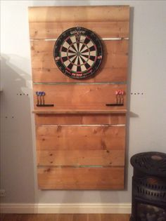 Here is my dart board project made from scrap wood in my garage!