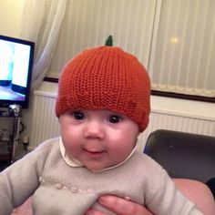 How adorable does baby Matilda look in her pumpkin hat? All baby sizes ready to ship!
