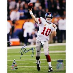 Eli Manning Autographed Super Bowl XLVI Passing 8x10 Photograph . $269.99. With his second Super Bowl win in four years, Eli Manning has joins the ranks of brand name New York sports heroes like Mantle, Jeter and Namath. Selected first overall in the 2004 NFL Draft, Eli has earned Pro Bowl honors twice, and was the MVP of the 2008 Super Bowl, when the Giants upset the previously undefeated Patriots. In 2011, he broke the record for most 4th quarter touchdown passes i...