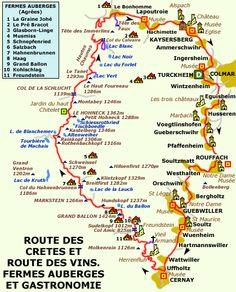 Wij reden de Route des Crêtes van zuid naar noord. Van noord naar zuid betere bewegwijzering. Wil je onze route volgen, begin dan onderaan, bij de laatste foto.