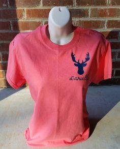 Personalized Deer Short Sleeve Shirt