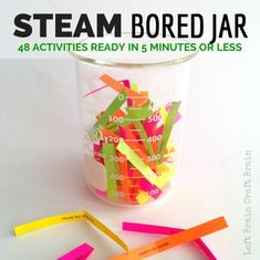 48 STEAM (Science, Technology, Engineering, Art & Design, and Math) activities that only take a few minutes to prep. The learning cure for bored kids!