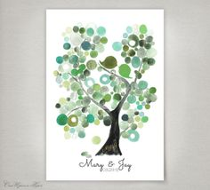 Unique Wedding Guest Book Tree Alternative by OnceUponaPaper, $45.00