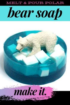 How to make polar bear soap. A fun and easy polar bear craft project for kids. A simple DIY melt and pour soap making project for kids, adults and families to make for bath time fun and seasonal homemade soap gifts. Bear Crafts, Fun Diy Crafts, Kids Crafts, Soap Tutorial, Rainy Day Crafts, Homemade Soap Recipes, Craft Projects For Kids, Project Ideas, Home Made Soap