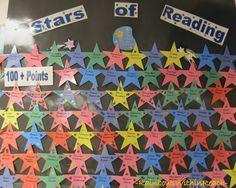 Bulletin Board for Reading Accomplishments, Stars for Reading Bulletin Board