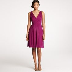 Potential bridesmaid dress? Not sure what color though. Louisa in Silk Chiffon by J. Crew