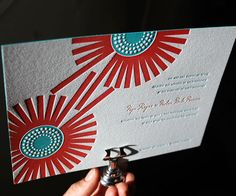 Joy letterpress wedding invitation from Bella Figura. Customize yours with Paper Passionista.