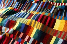 Blankety-Blank!: a textural shot by cauchy09, via Flickrgarter stitch scarves knitted together into a blanket