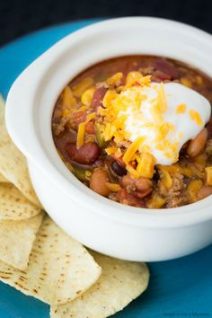 Warm your insides with this delicious Taco Soup that you can make in only 30 minutes! It's the perfect quick-fix dinner!