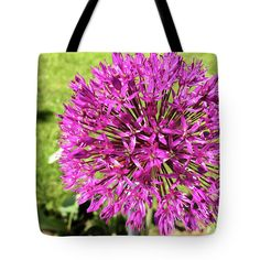 Marina Usmanskaya Tote Bag featuring the photograph Allium by Marina Usmanskaya #MarinaUsmanskayaFineArtPhotography #Allium #ArtForHome #FineArtPrints