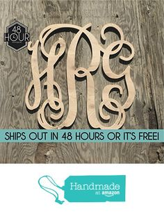 sale item large 24 inch wooden monogram letters vine room decor nursery decor wooden monogram wall