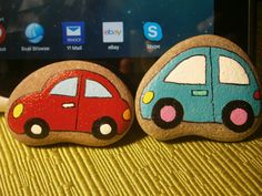 "Painted rock ""CAR"" on Etsy, $5.00"